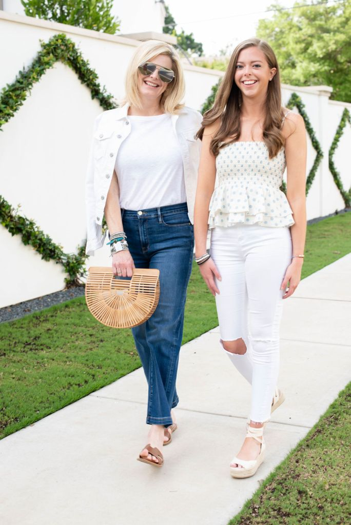 Victoria Emerson SALE for the 4th of July featured by top US fashion blogger, Tanya Foster: image of 2 women wearing Victoria Emerson Bracelets on SALE for the Fourth of July