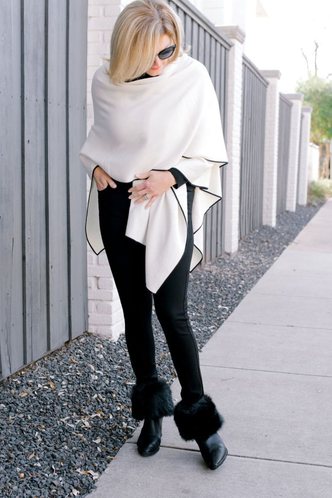 MM. LaFleur Angelou Shawl with all black