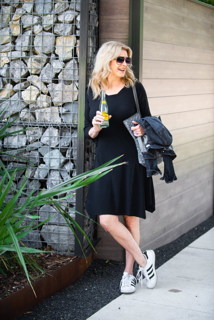 Tanya Foster wears a Southcott Threads dress and shirts on TanyaFoster.com