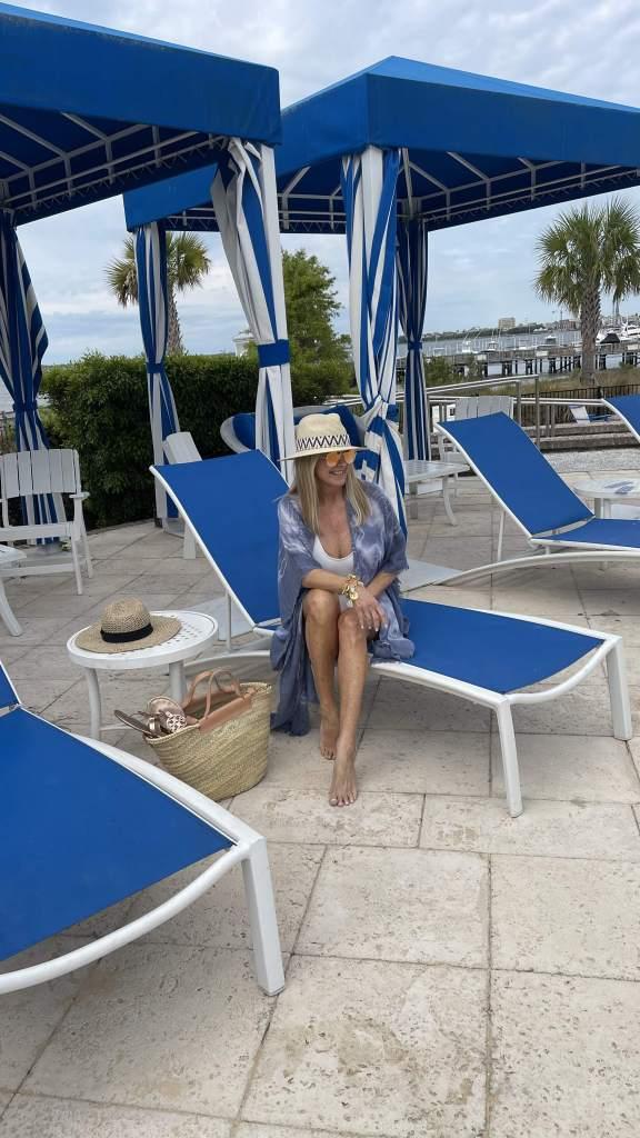 Tanya at pool