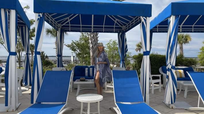 Tanya in Cabana at main pool