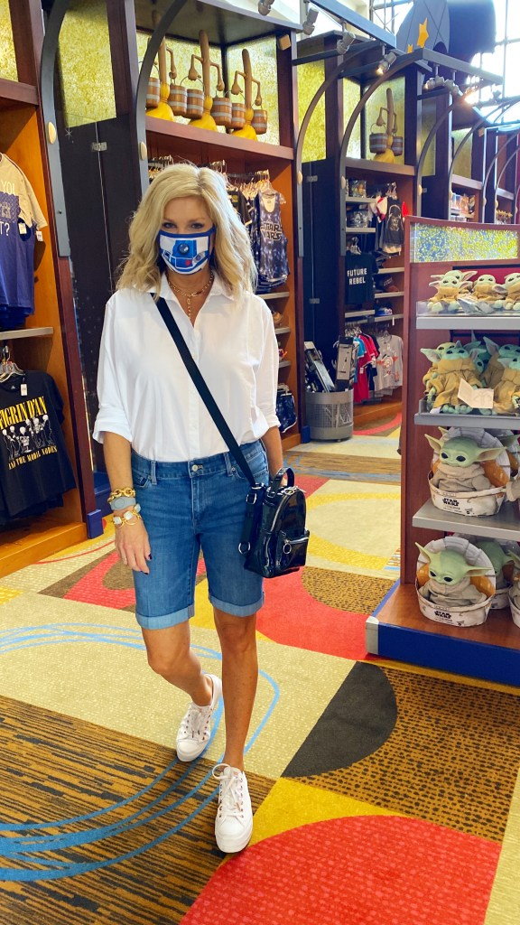 Tanya shopping at Walt Disney World shop