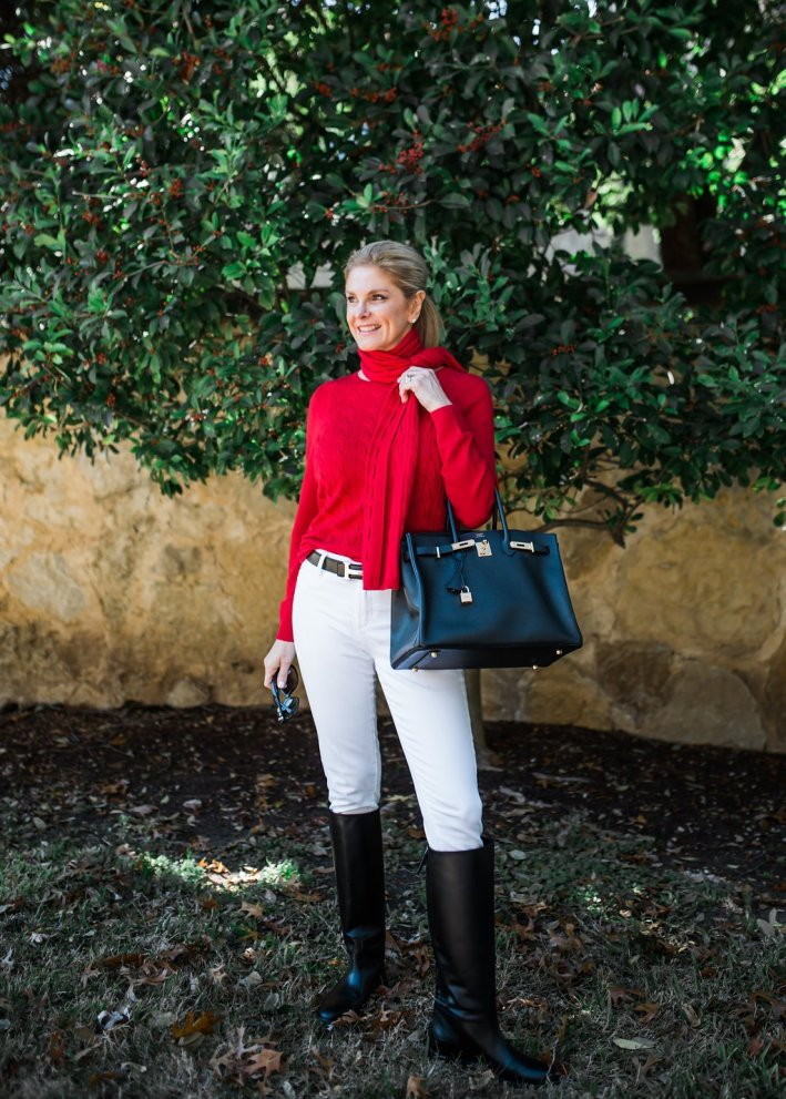 tanya foster with an hermes belt and hermes purse