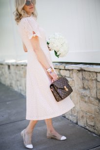 How to pair a dress with flats