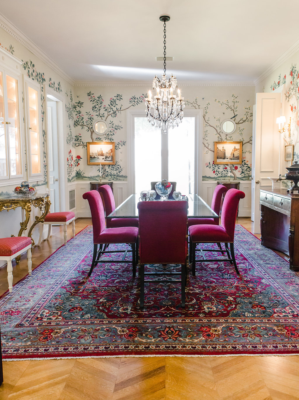E TanyaFostercom Dining Room Remodel With Gracie Studio Custom Wallpaper