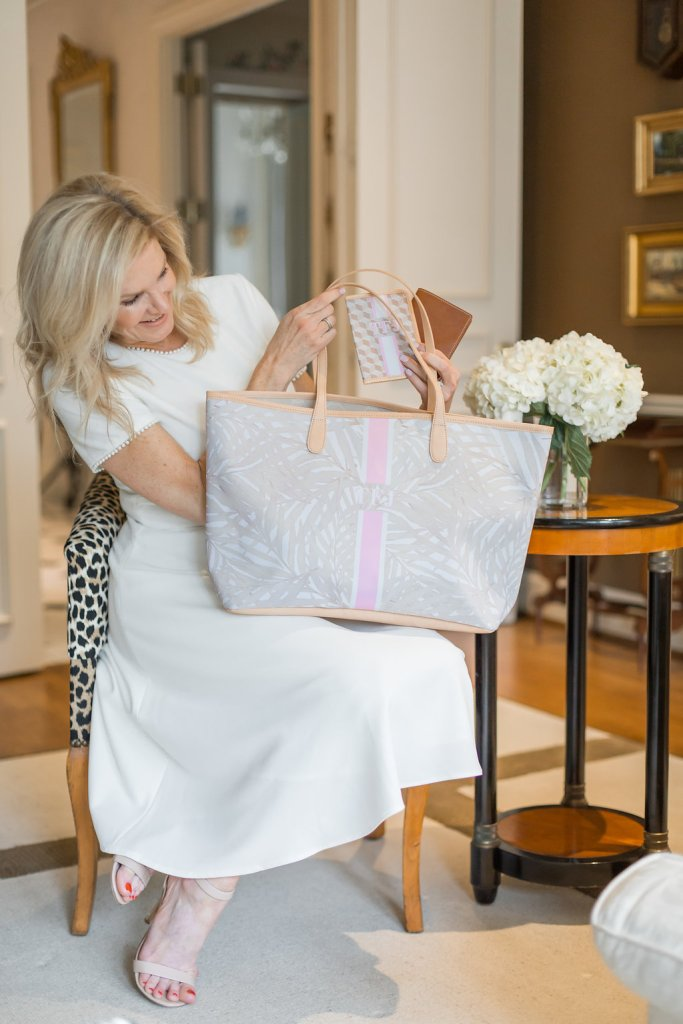 The Barrington Tote bag makes an excellent wedding gift to showcase the brides new monogram