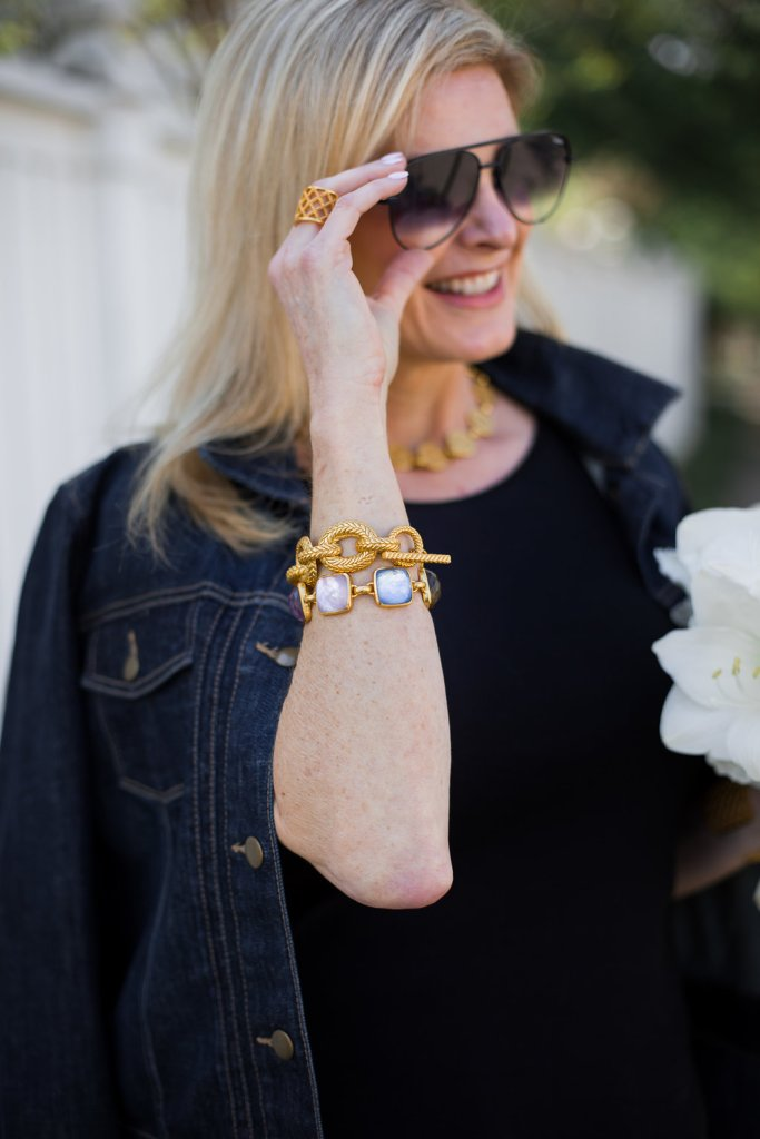 Enter the Mother's Day giveaway on TanyaFoster.com for a $500 gift certificate to Julie Vos jewelry