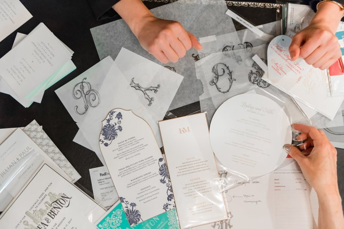 Wedding invitations with Bell'Invito Couture Stationers in Dallas, Texas