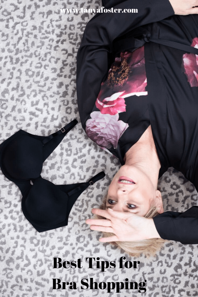 Best Tips when bra shopping | 5 Tips for Bra Shopping by popular Dallas fashion blogger, Tanya Foster: image of a woman lying on the floor and looking at her black Soma Vanishing 360 bra.