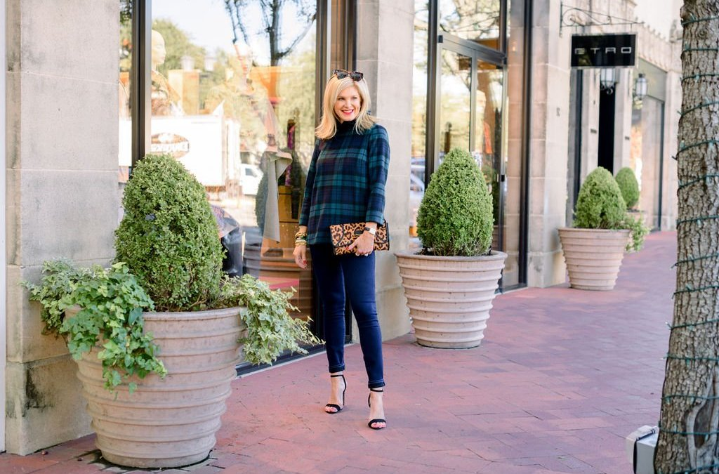 How to Style a Plaid Blouse