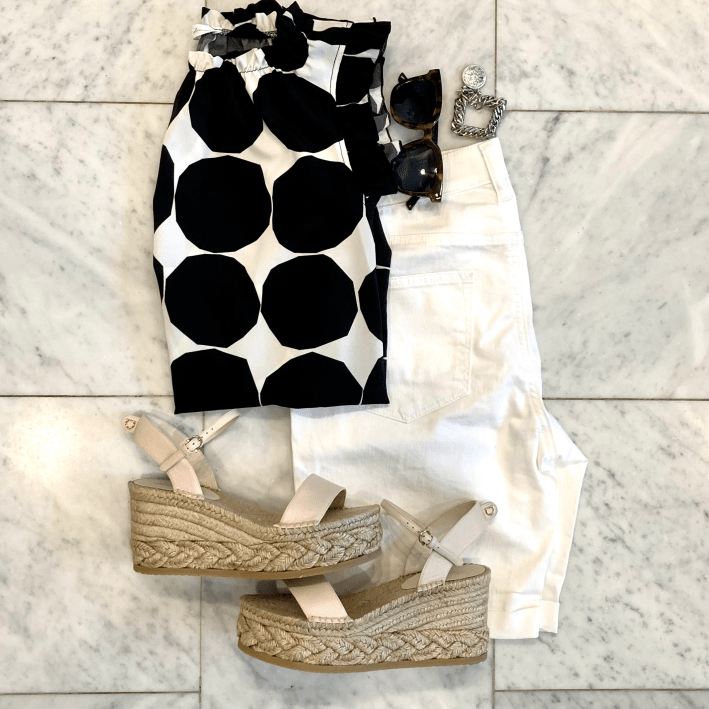 avara top talbots girlfriend shorts wedges and accessories