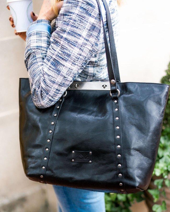 patricia nash benvenuto convertible tote bag black