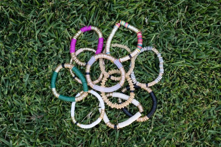 Allie+Bess bracelets in the grass