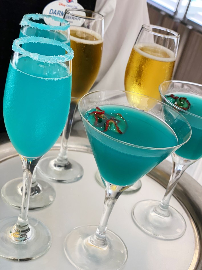 Tiffany & Co. drinks on the Disney Dream
