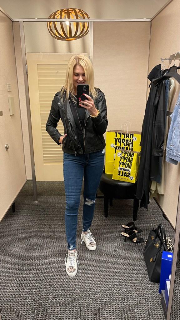 Tanya Foster wearing Nordstrom Anniversary Sale look