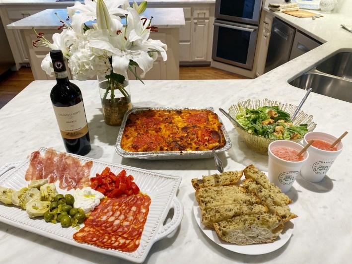 the grape ape dfw happy hour frose wine pasta salad and antipasto