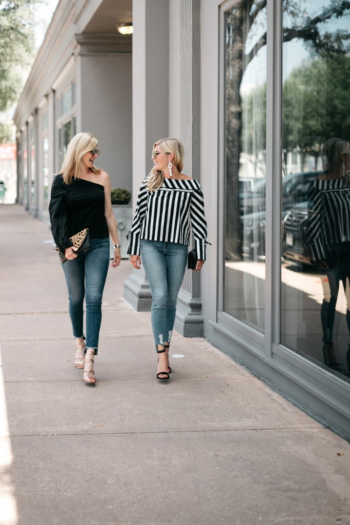 Raw hem denim trend from the Nordstrom Anniversary Sale on Tanya Foster and Brooke Burnett