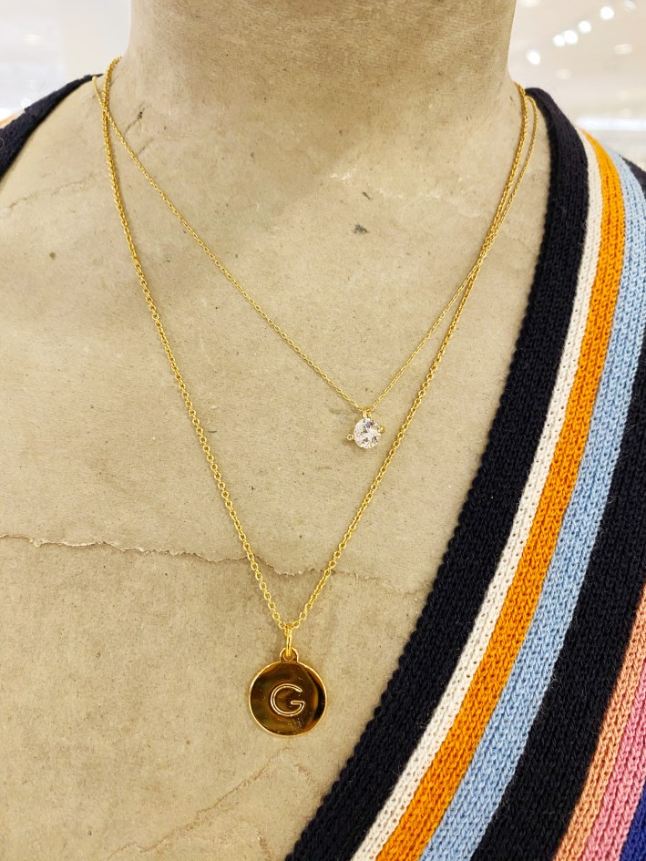 Kate Spade pendant initial necklace