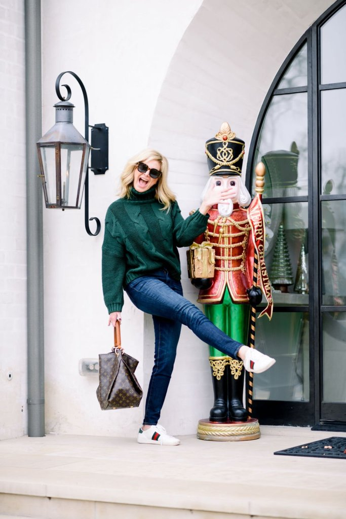 Tanya Foster with life size nutcracker