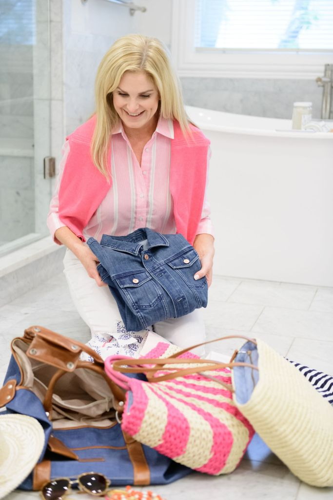 tanya foster packing talbots jean jacket and other talbots items