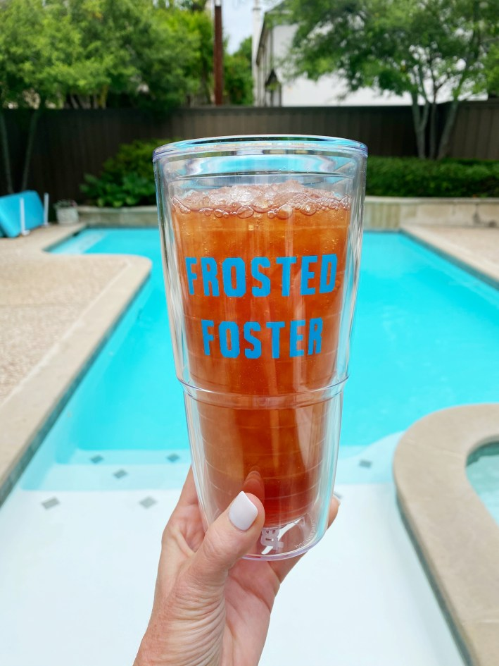 Frosted Foster personalized insulated cup