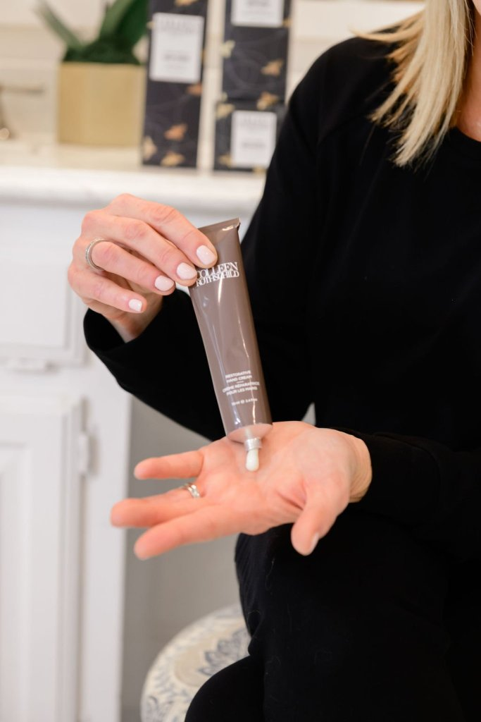 Tanya Foster using Colleen Rothschild beauty restorative hand cream