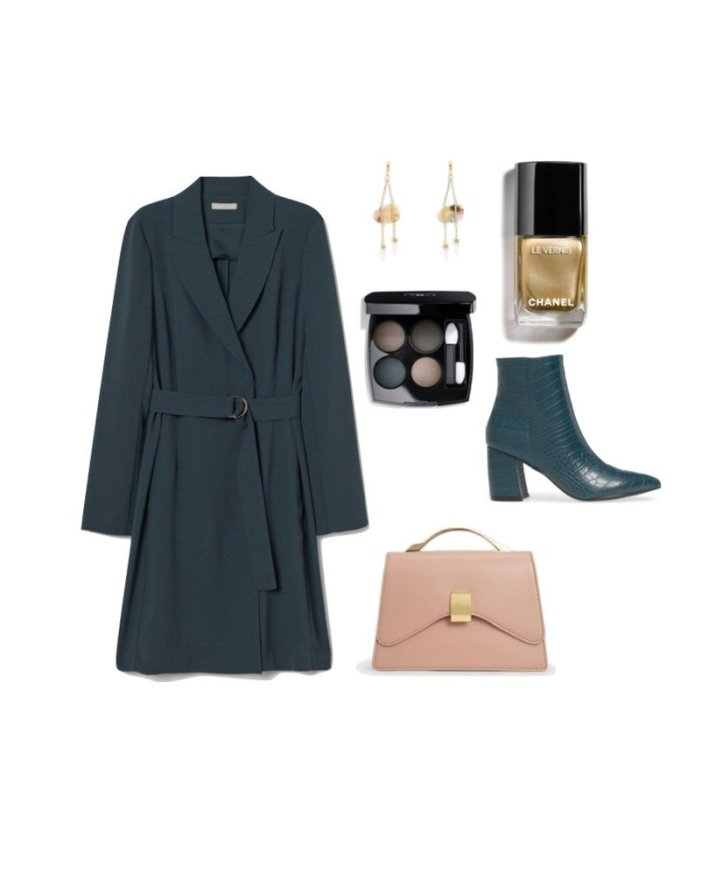 h&m jacket dress ankle boots chanel makeup and accessories fashion edit