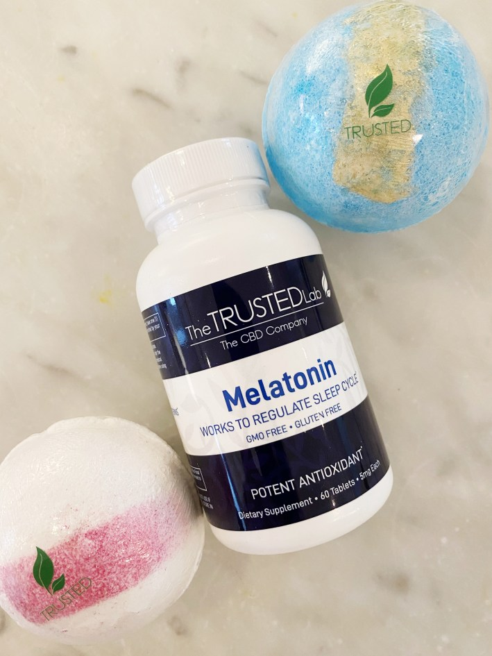 the trusted lab cbd melatonin pills and bath bombs