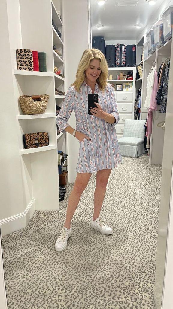 Tanya foster wearing tuckernuck dress from tuckernuck sample sale