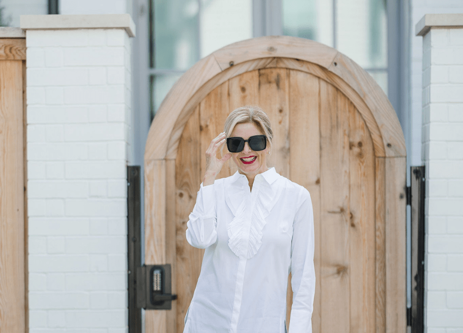 How to style a white blouse from dressy to casual