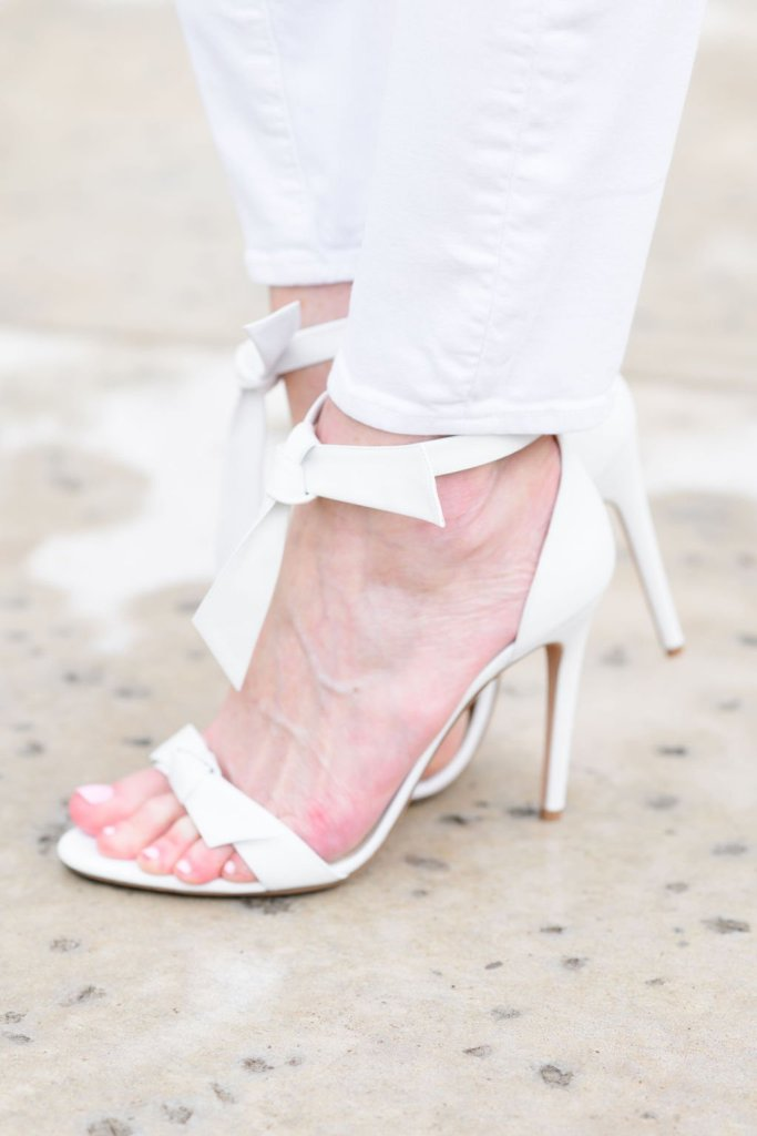 Tanya Foster white heels