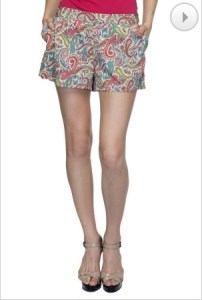 printed shorts at oxolloxo