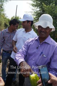 Mr. Maje Gowda - the plant expert at Trikaya Farms