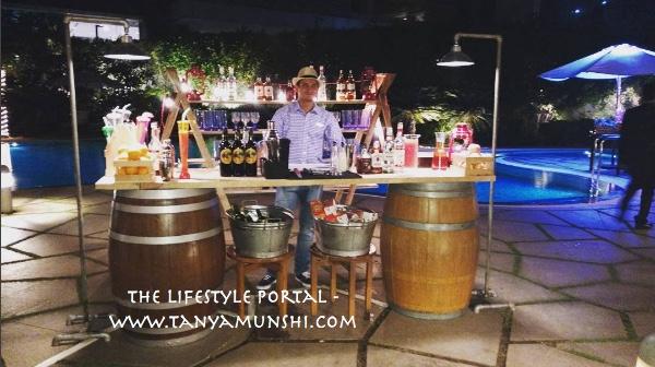 The bar - at the Backyard BBQ
