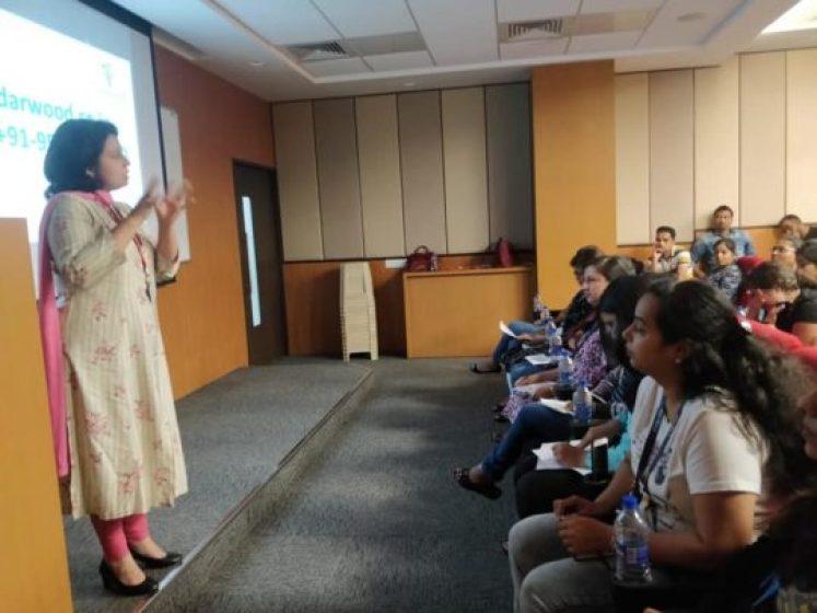 Adv. Ritu Agwekar conducting a workshop