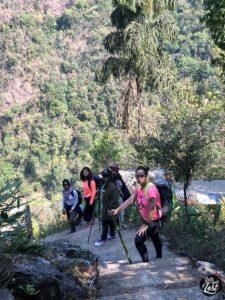 Walking down the 3500 steps of root bridge