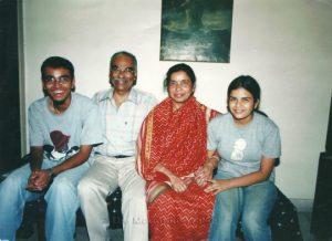 A happy Shaikh family in 2006 - Right to Left of image - Tamanna (née Raissa Shaikh), Mrs. Alekha Shaikh, Late Dr. Shaikh Abdul Jabbar, Ameen Shaikh; Photo: Mukul Dube