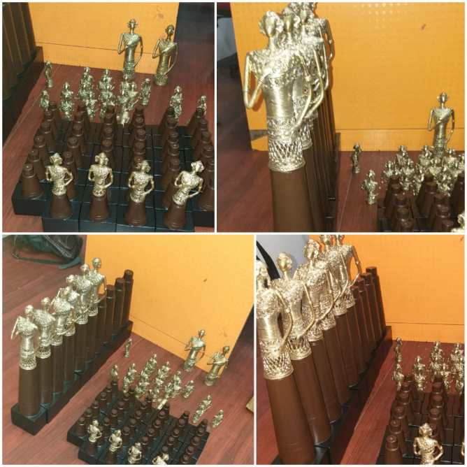 Handcrafted customized brass trophies. Curated by: Truly Tribal