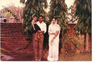 That's the little me with my parents. Photo credit: Devyani Chauhan Bisht