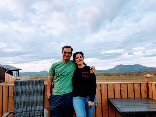 Mrigakshi & Nitin Pradhan - Co-Founders Catterfly at Asbyrgi Cliffs and National Park – Iceland