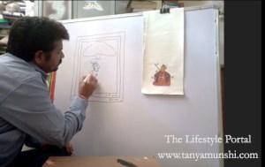 Learning from the master: Vijay Joshi - Phad & Miniature artist