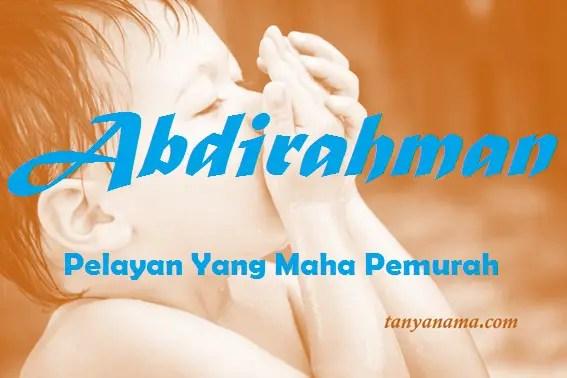 arti nama Abdirahman