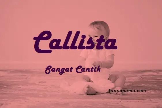 arti nama Callista