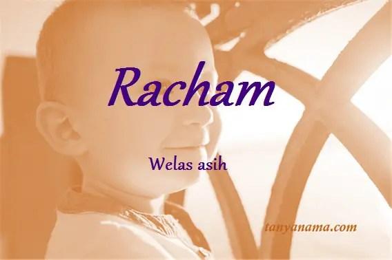 arti nama Racham
