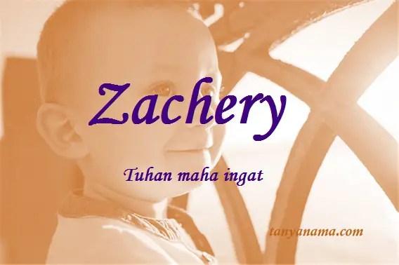 arti nama Zachery