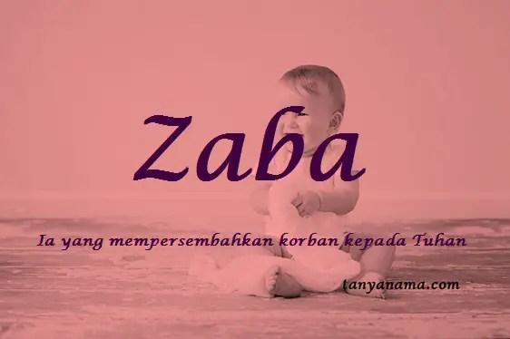 Arti nama Zaba