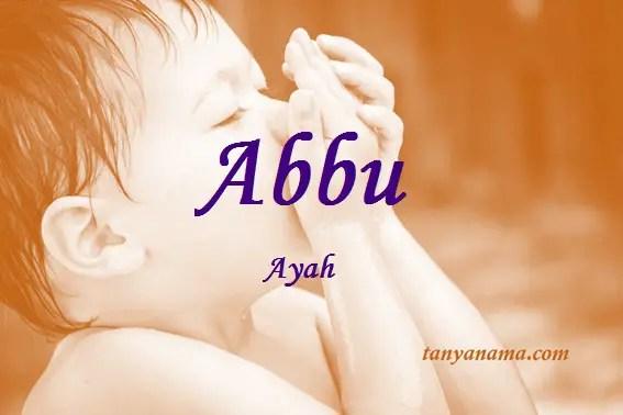 arti nama Abbu
