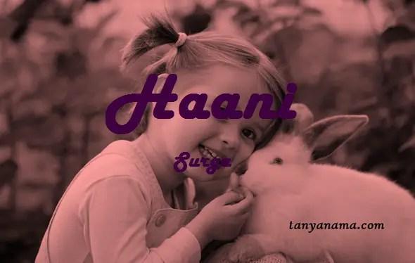 arti nama Haani