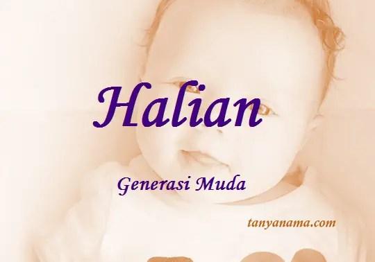 arti nama Halian