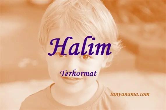 arti nama Halim